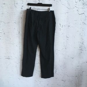 BROOKS BLACK STRETCH PANTS WOOL BLEND 14